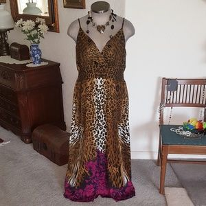 DOTS * SEXY * LEOPARD PRINT * MAXI DRESS * Sz. 3x